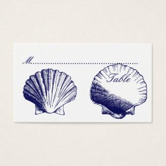 El azul marino descasca tarjetas del asiento de la