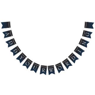 El azul marino Ombre enciende el boda de la Banderines