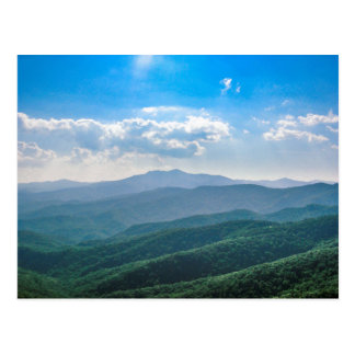 El Azul-Ridge asombroso Postal