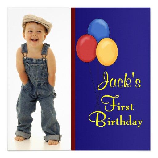 El azul rojo hincha fiesta de cumpleaños de la fot invitación