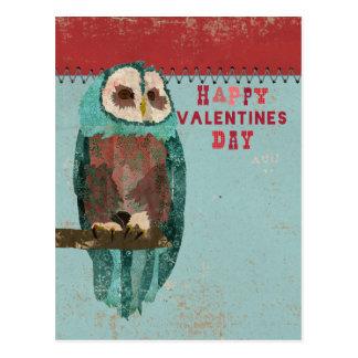 El azul se ruboriza postal del día de San Valentín