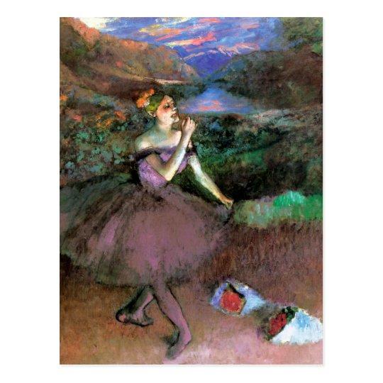 El bailarín con los ramos cerca desgasifica postal