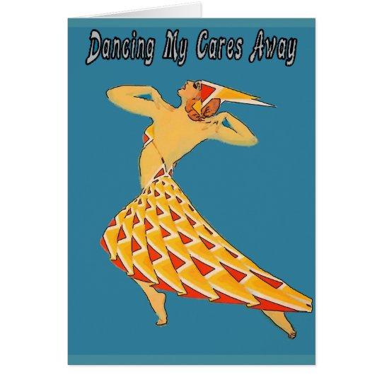 El baile cuida retro ausente tarjeta de felicitación