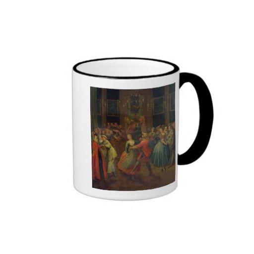 El baile de disfraces taza de café