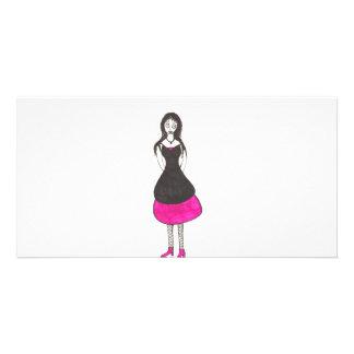 El baile de fin de curso espeluznante de los años  tarjeta fotográfica personalizada
