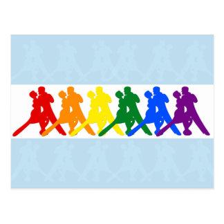 El baile del tango junta colores del arco iris postal