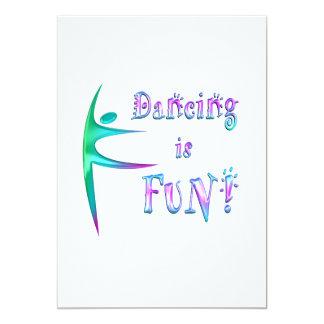 El baile es diversión invitacion personalizada