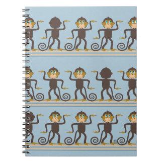 El baile monkeys el modelo, muchachos, azules cuaderno