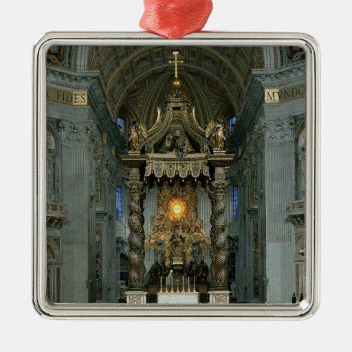 El Baldacchino, el alto altar y la silla Ornamento De Reyes Magos