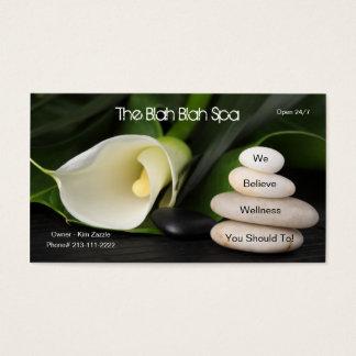 El balneario soso soso - (no un balneario real) tarjeta de negocios