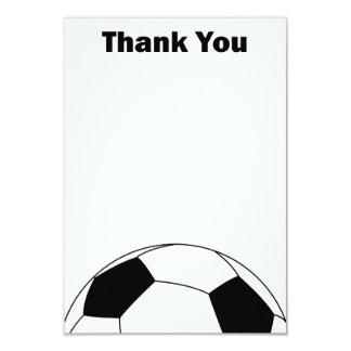El balón de fútbol le agradece las tarjetas de invitación 8,9 x 12,7 cm