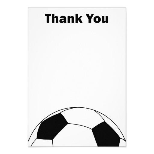 El balón de fútbol le agradece las tarjetas de not invitacion personalizada