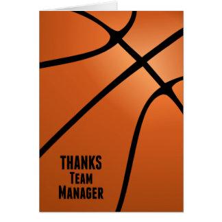 El baloncesto agradece el espacio en blanco del tarjeta pequeña