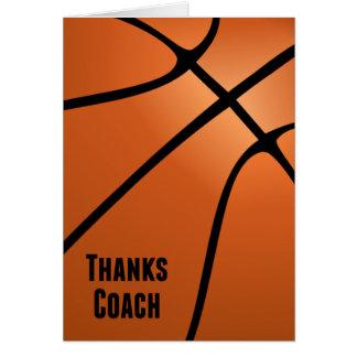 El baloncesto agradece el interior Diseño-En Tarjeta Pequeña