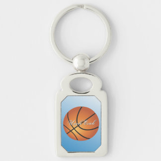 El baloncesto de encargo del monograma crea sus llavero