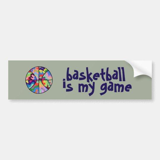 El baloncesto es mi pegatina para el parachoques