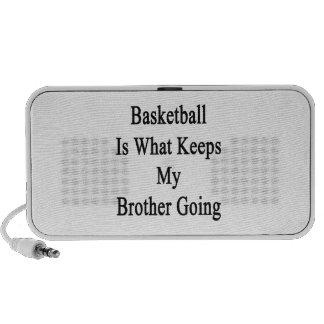 El baloncesto es qué guarda mi ir de Brother Altavoces De Viajar