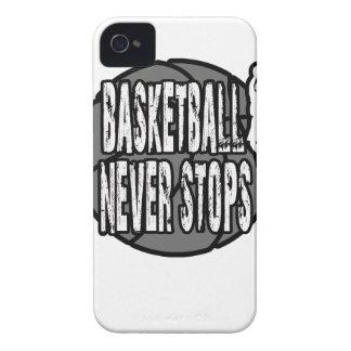 El baloncesto nunca para carcasa para iPhone 4