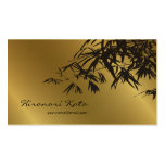 El bambú sale del oro + Tarjeta de encargo del per Plantillas De Tarjetas Personales
