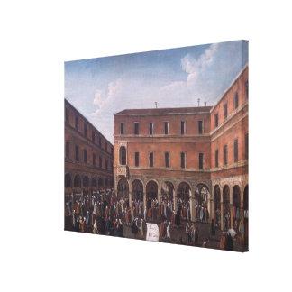 El Bancho del Giro en el Rialto, Venecia Impresión En Lienzo