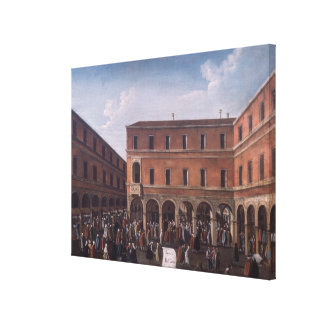 El Bancho del Giro en el Rialto, Venecia Lona Estirada Galerías
