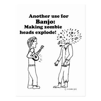El banjo hace que los zombis estallan postal