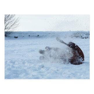 El baño de la nieve - postal