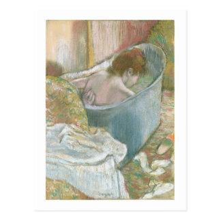 El baño (en colores pastel) tarjetas postales