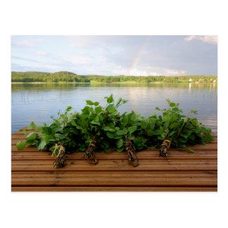 El baño finlandés tradicional bate la postal