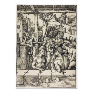 El baño para hombre de Albrecht Durer Impresion Fotografica