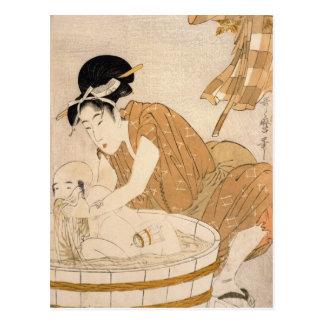 El baño, período de Edo Postal