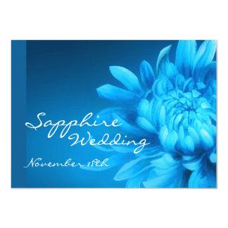 El banquete de boda azul del zafiro 45.o invita invitación 11,4 x 15,8 cm