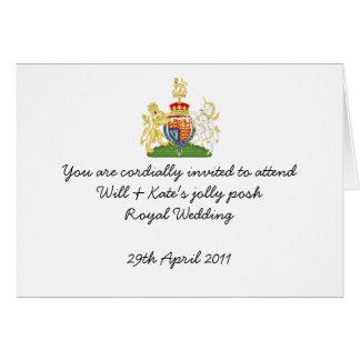 El banquete de boda real de la diversión invita tarjeta de felicitación
