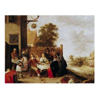 El banquete del hijo despilfarrador, 1644 tarjeta postal