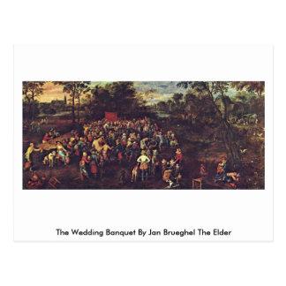 El banquete en enero Brueghel del boda la anciano Postal