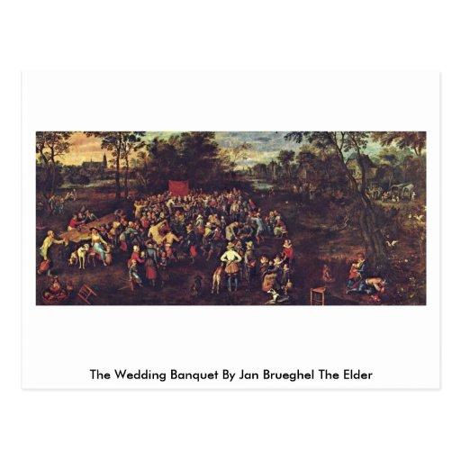 El banquete en enero Brueghel del boda la anciano Postales