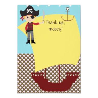 El barco pirata adaptable le agradece invitación 12,7 x 17,8 cm