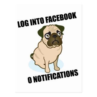 El barro amasado de Facebook tiene notificaciones  Tarjeta Postal