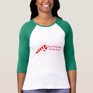 El bastón de caramelo del navidad camisetas