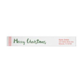 El bastón de caramelo desea Felices Navidad Etiquetas Envolventes De Remitente