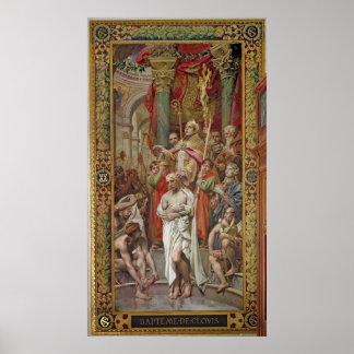 El bautismo de Clovis I Posters