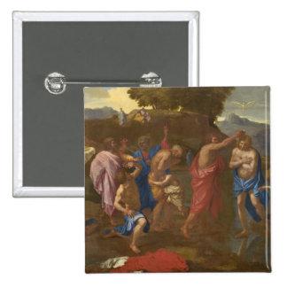 El bautismo de Cristo, 1641-42 Chapa Cuadrada 5 Cm