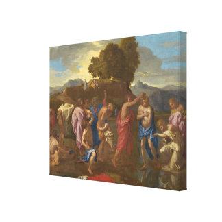 El bautismo de Cristo 1641-42 Impresión En Lona