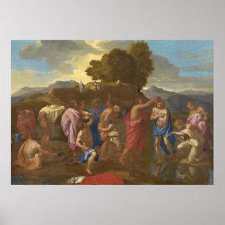 El bautismo de Cristo, 1641-42 Poster