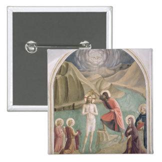 El bautismo de Cristo, c.1438-45 (fresco) Chapa Cuadrada 5 Cm