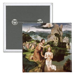 El bautismo de Cristo, c.1515 Chapa Cuadrada 5 Cm