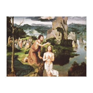 El bautismo de Cristo, c.1515 Lienzo Envuelto Para Galerías