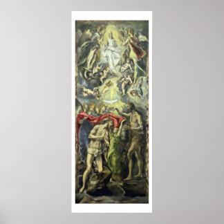 El bautismo de Cristo c 1597 aceite en lona Impresiones