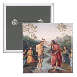 El bautismo de Cristo Chapa Cuadrada 5 Cm
