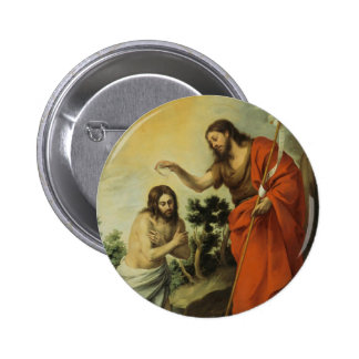 El bautismo de Cristo de Bartolome Esteban Murillo Chapa Redonda 5 Cm